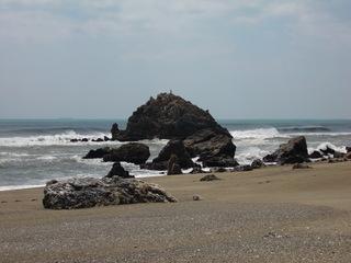 こっちは、砂浜がなが~い!