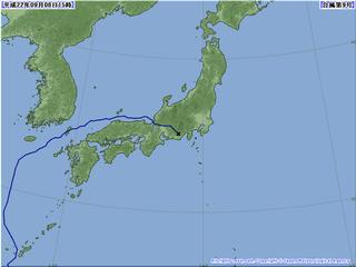 台風情報 午後3時現在(気象庁)