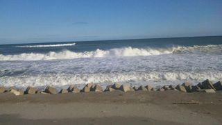 浜が消えた