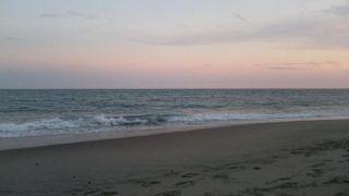 夕方、いい海