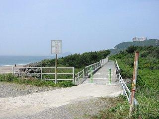 表浜自転車道、日出海岸付近の写真です。