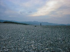 七里御浜の写真、北景。