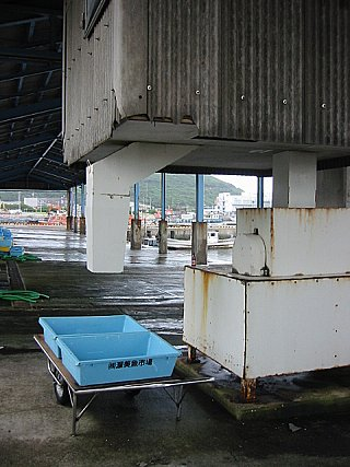 伊良湖市場の製氷機