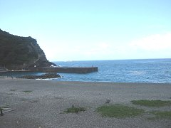 海岸の浜景左