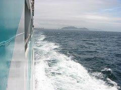 フェリー左舷から波面を撮影
